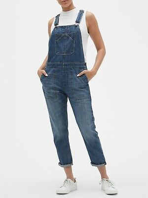 Gap Overalls (Gap NEW Indigo Relaxed Denim Overalls Jeans XS )