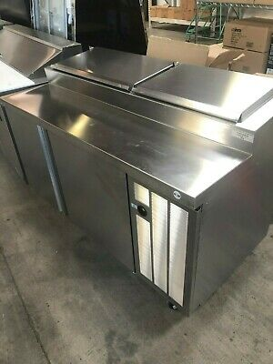 Delfield 18660ptbmp Refrigerated Pizza Prep Table 60 2-doors 7 13 Pan Cap
