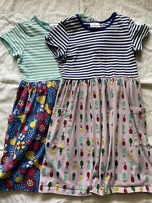 Floral Dress For Girls (Hanna Andersson Girls 140 Dress Lot  Size 9-10 GUC Pineapple Floral)