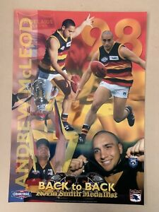 Adelaide Crows 97/98 Andrew McLeod Back 2 Back Norm Smith Poster