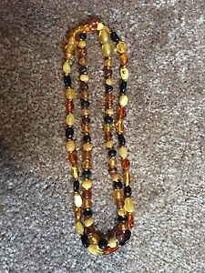 2 Amber Necklaces