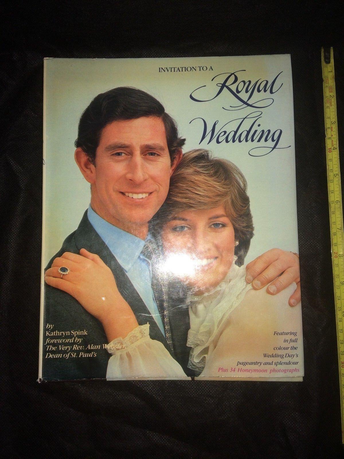 Invitation to a Royal Wedding by Kathryn Spink hardback book - Lady Diana