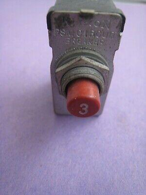 Klixon Aircraft Circuit Breaker Psm 3 Amp