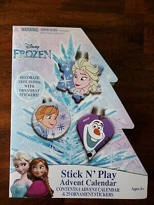 Disney Frozen Stick N Play Christmas Advent Calendar Stickers Anna Elsa Olaf New