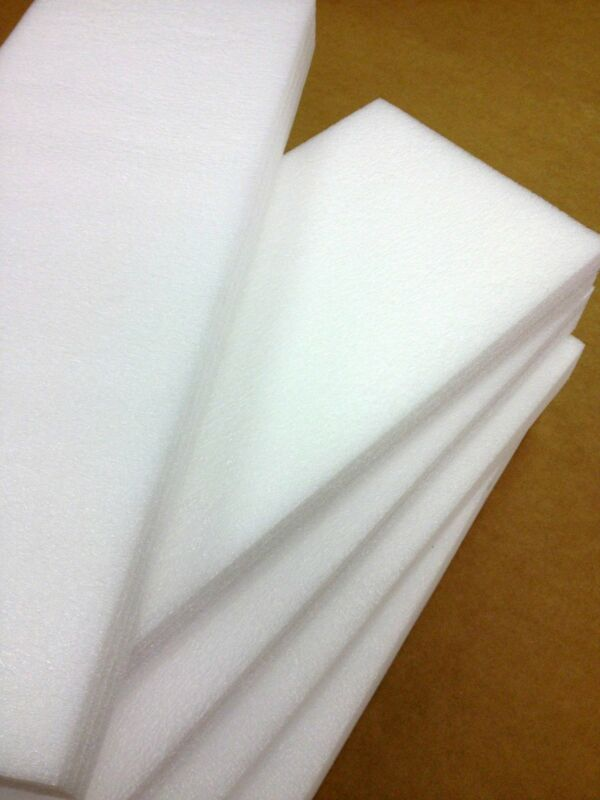 """12"""" x 12"""" x 1/2"""" Polyethylene Foam Sheets White (Qty 48)"""