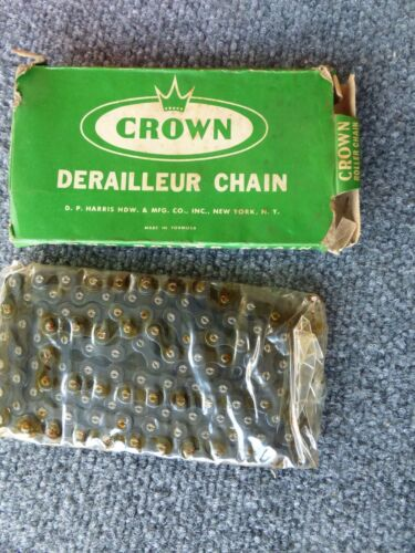 Vintage 116 Link Crown DTYC Derailleur Bicycle Chain **NOS**for Schwinn with BOX
