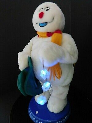 "Gemmy Frosty the Snowman Animated Dancing Spinning Snowflake 18"" Tall"