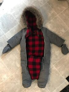 6-12 month snowsuit --like new