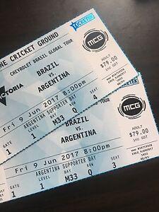 2x (Active area) Brazil vs Argentina tickets Deer Park Brimbank Area Preview