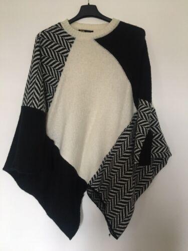 Pull poncho maje  laine et mohair  - taille unique 36 - 40