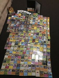 Poke'mon cards and folder 243 cards