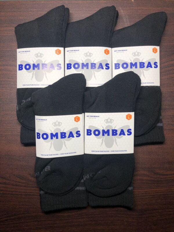 NEW + FREE SHIPPING 5-Pack Bombas Calf High Socks Size Large Unisex MEN WOMEN