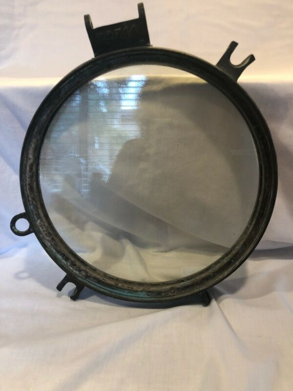 Large Vintage Brass Ship Porthole Heavy