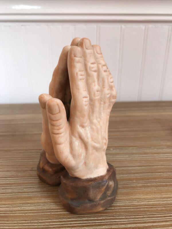 "Vintage~Praying Hands~Ceramic Figurine 4.5"""