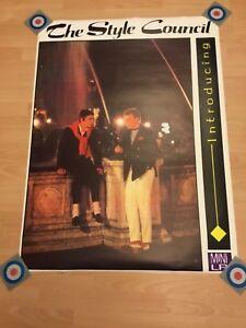 The Style Council Original Promo Poster 'Introducing' 1983 Mint Jam Paul Weller