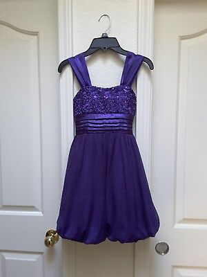 My Michelle Big Girl's Sparkling Pretty In Purple Party Dress-Size-7