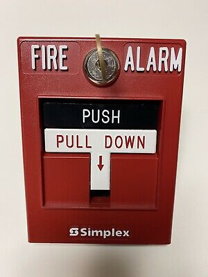 Simplex 2099-9756 Dual-action Manual Fire Alarm Pull Station With Key No Rod