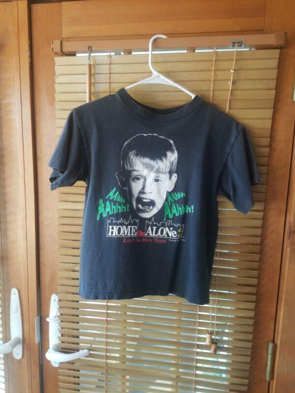 1992 Vintage Home Alone 2 Shirt Graphic Single Stitch Youth Medium Movie Promo
