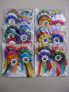 10 Rosettes Assorted Mini Dog rosettes, parties, Dog Show rosette