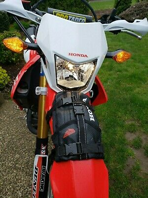 - Dirt Bike Fender Bag Front Motorcycle Road Dual Sport Honda Enduro Tire Pack OEM