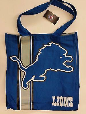 Nfl Detroit Lions Reusable Canvas Shopping Tote  New