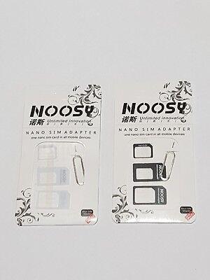2X Nano to Micro/Standard SIM Card Adapter Converter for phones white+black  segunda mano  Embacar hacia Mexico