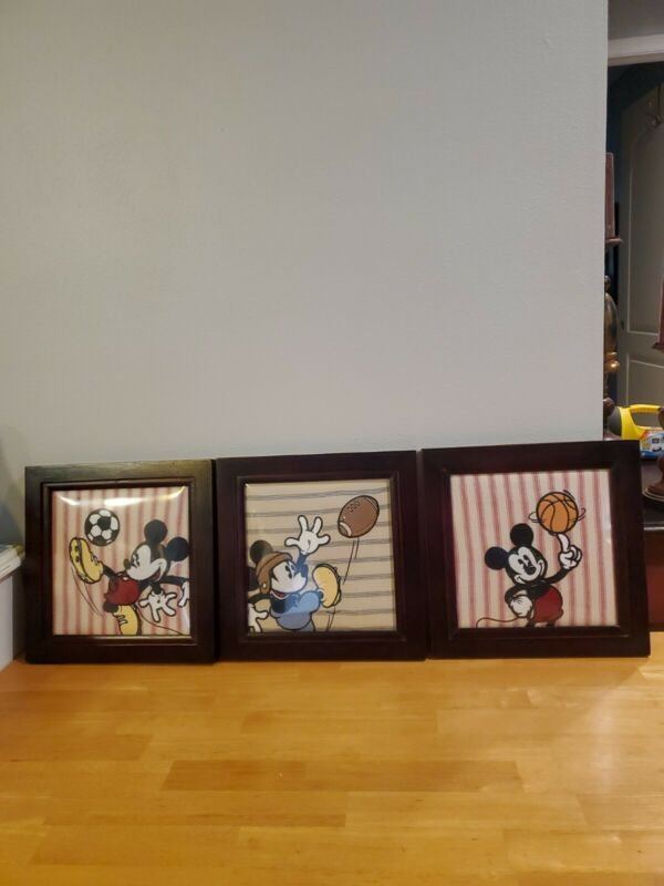 Disney Mickey Mouse Sports 3 Piece Wall Art
