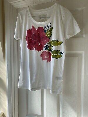 Abercrombie &Fitch T Shirt Size L Floral Print