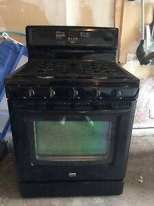 Maytag Black GAS Stove for sale (USED)