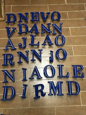 Outdoor Plastic Letters Sign Blue Bargain Storefront Advertising Signage
