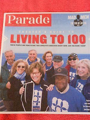 Parade Magazine April 2015 Living To 100 Elisabeth Moss Matthew Weiner Mad Men