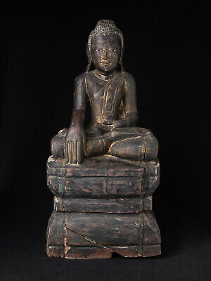 Antique Burmese Shan Buddha statue from Burma, Early 20th century