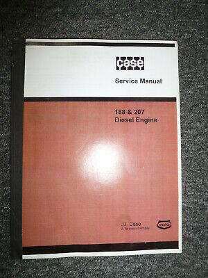 Ji Case 188 207 Diesel Engine Shop Service Repair Manual