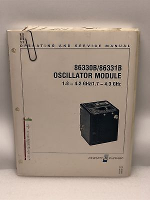 Hp 86330b86331b Oscillator Module Operating Service Manual