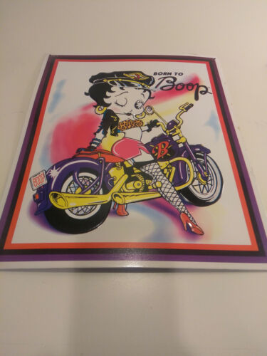 1996 Born to Boop Metal Sign  Betty Boop