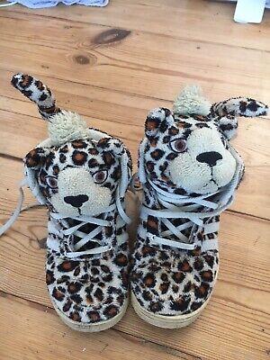 Designer Jeremy Scott Leopard Kids Shoes Uk Size 9