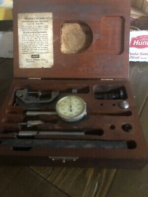 Vintage Machinist Tools Lufkin Dial Indicator Kit. 399a-299a Wwooden Box.