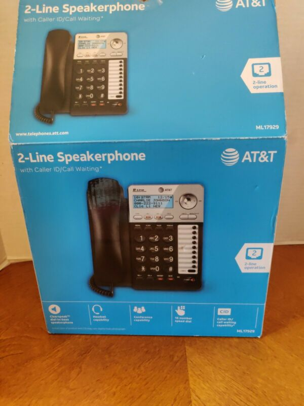 Vtech Communications Inc 2 Packs BLK 2Line Speaker Phone