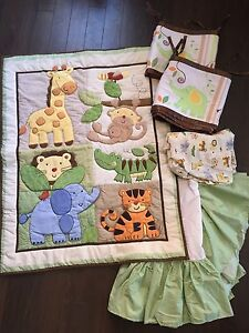 Jungle Animals full set for babies bed
