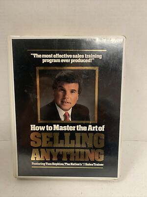 Tom Hopkins How To Master The Art Of Selling Anything Workbook & 12 Cassettes