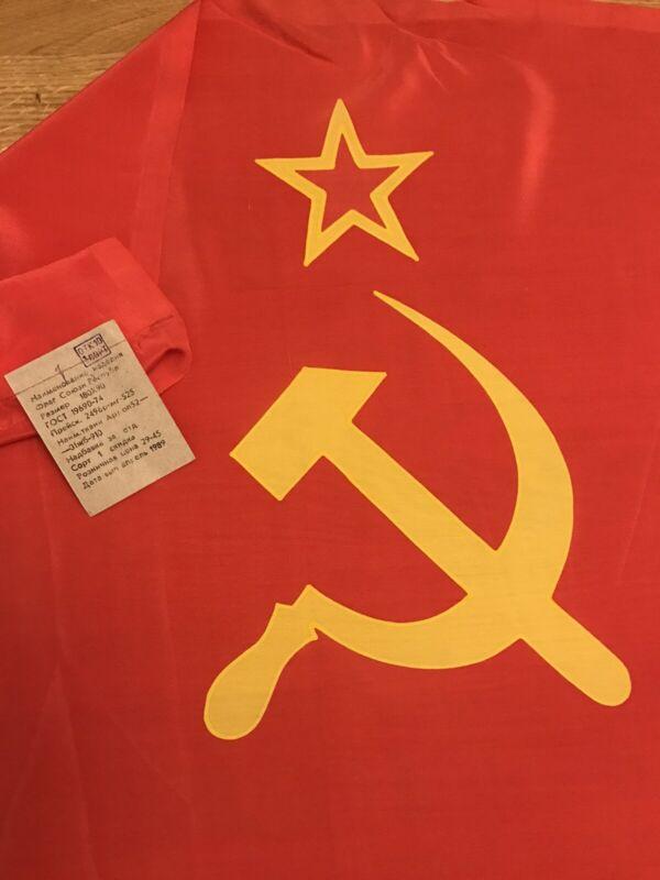 Authentic Big Flag Kazakhstan Kazakh Soviet Socialist Republic USSR Vintage