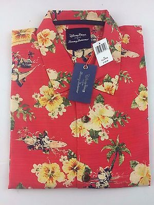 NEW Disney Parks Tommy Bahama Mickey Mouse Men XL Silk Shirt Hawaiian Summer NWT