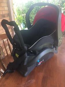 Steelcraft baby capsule and pram red. Marburg Ipswich City Preview