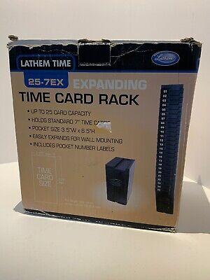 Lathem Time Expandable Time Card Rack Black