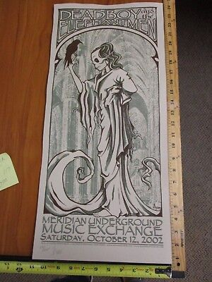 2002 Rock Roll Concert Poster Deadboy and the Elephantmen Jason Cooper SN LE#125