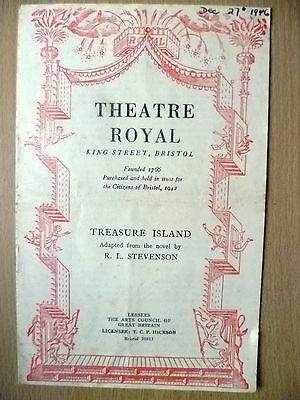 Theatre Royal Bristol, Programme 1942- TREASURE ISLAND by R L Stevenson
