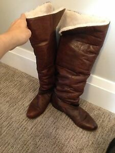 Dolce vita shearling leather boots, Nine West leather