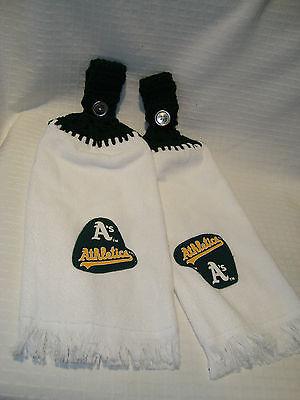 Oakland As's / Leichtathletik 2er Set Häkeln Kühlschrank Golf bar Handtücher Neu