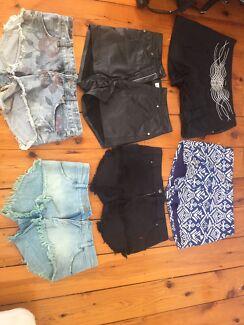 Arnhem leather shorts, sass & bide, cut off denim shorts