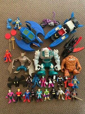 IMAGINEXT DC Superfriends Lot Figures Vehicles CLAYFACE Man Bat BATMAN Joker